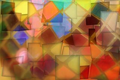 Mosaic Mixed Media - Colorful Glass Cubes by Dan Sproul