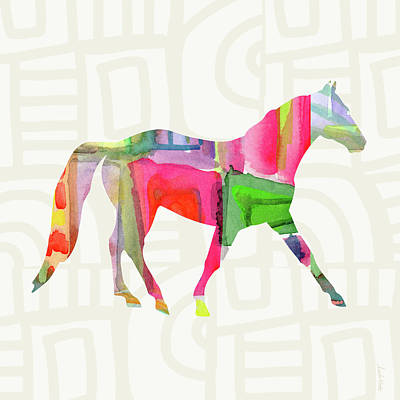 Colorful Horse 1- Art By Linda Woods Print by Linda Woods