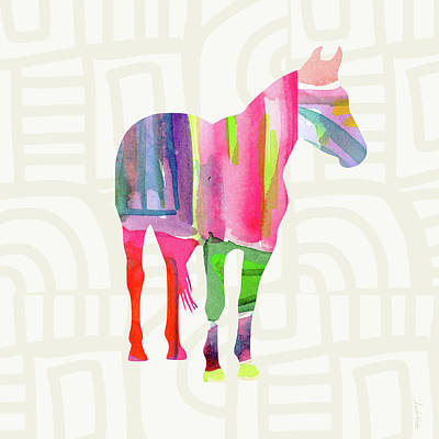 Colorful Horse 2- Art By Linda Woods Print by Linda Woods