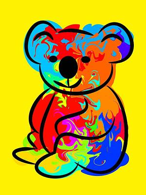 Koala Digital Art - Colorful Koala by Chris Butler