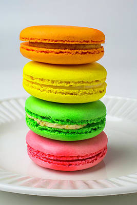 Colorful Macaroons Print by Garry Gay