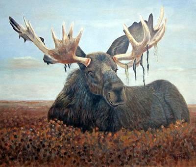 Colorful Moose Original by Monica Brown