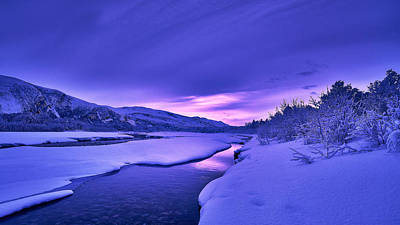 Colorful Morning Print by Tor-Ivar Naess