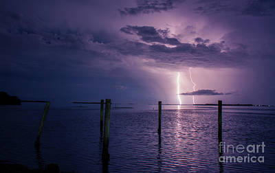 Lightning Photograph - Colorful Night by Quinn Sedam