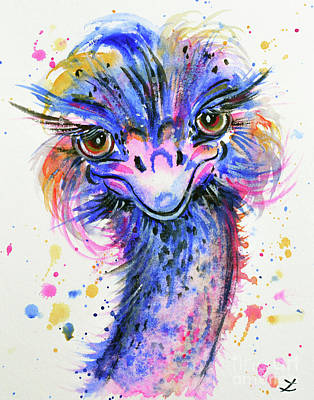 Colorful Ostrich Original by Zaira Dzhaubaeva