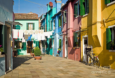 Colorful Piazza Print by Prints of Italy