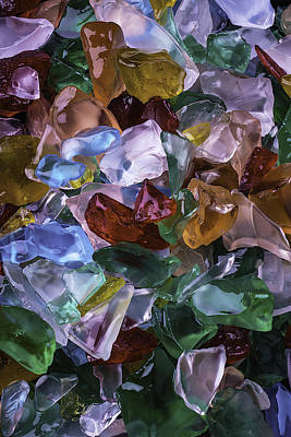 Colorful Sea Glass Print by Garry Gay