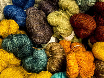 Colorful Skeins Print by Jean Noren