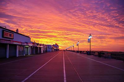 Digital Art - Colorful Skies On The Ocean City Boardwalk by Bill Cannon