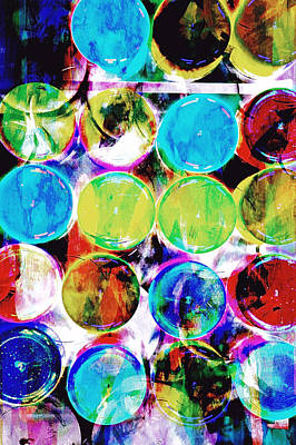 Colorful Spotty Abstract Print by Tom Gowanlock