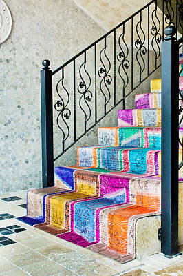 Colorful Stairs Print by Tom Gowanlock