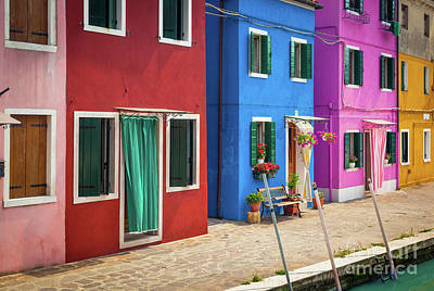 Colorful Street Print by Inge Johnsson