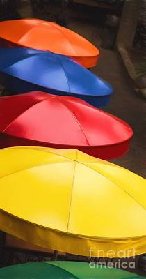 Colorful Umbrellas Print by Jon Burch Photography
