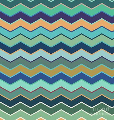Copy Drawing - Colorful Wave II by Amir Faysal