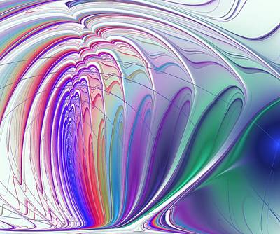Brain Digital Art - Colorful Waves by Anastasiya Malakhova
