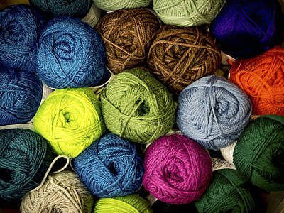 Colorful Yarn Print by Jean Noren