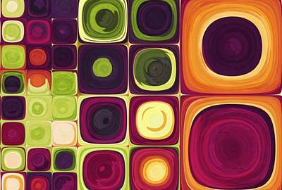 Colorfull Painting - colorfull Squares by Izabella Dmochowsia