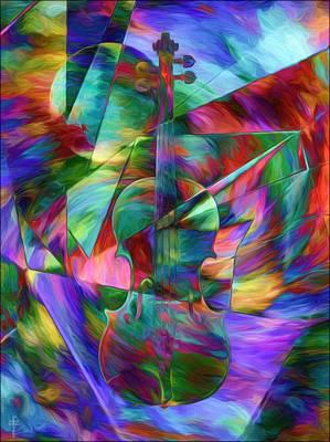 Colors And Geometries For A Violin  Original by Daniel  Arrhakis