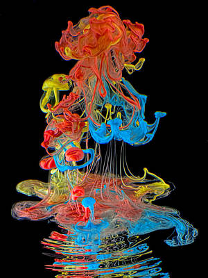 Liquid Emulsion Photograph - Colors by Henry Jager