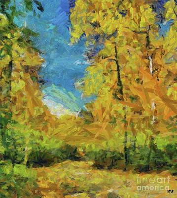 Birch Painting - Colors Of Autumn by Dragica Micki Fortuna