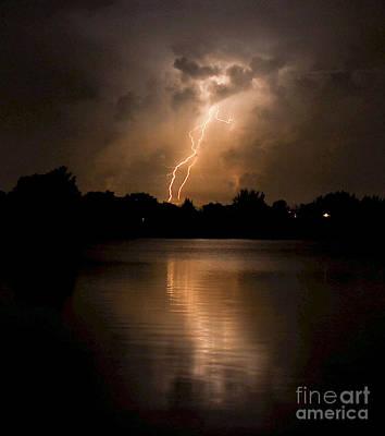 Lightning Photograph - Colors Of Beauty by Quinn Sedam