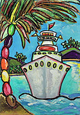 Contemporary Beach Painting - Colors Of Cruising by Patti Schermerhorn