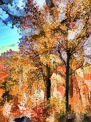 Environment Painting - Colors Of Fall by Lanjee Chee