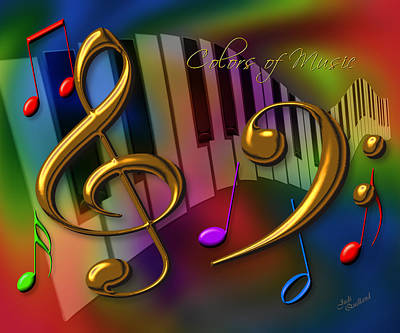 Colors Of Music Print by Judi Quelland