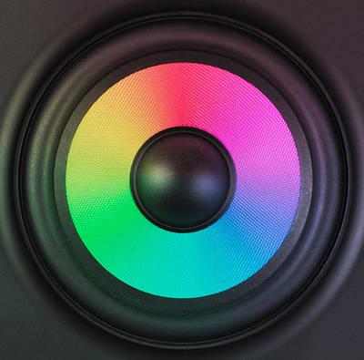 Colors Of Noise Print by Wim Lanclus