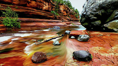 Colors Of Sedona Print by Chandra Nyleen