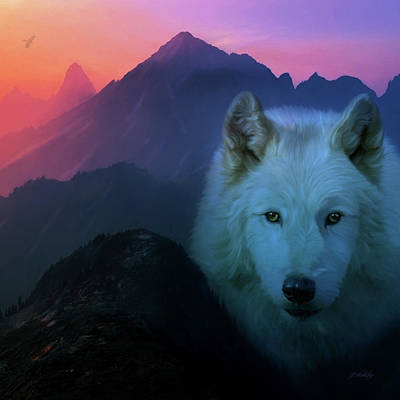 Wolf Face Painting - Colors Of The Spirit - Nature Series by Jordan Blackstone