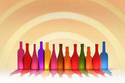Liquor Mixed Media - Colors Of Wine by Bedros Awak