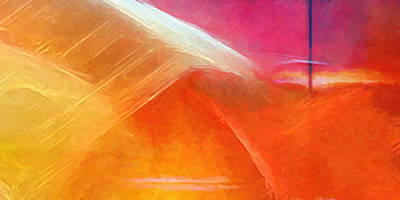 Colorfields Painting - Colorstorm Panoramic by Lutz Baar