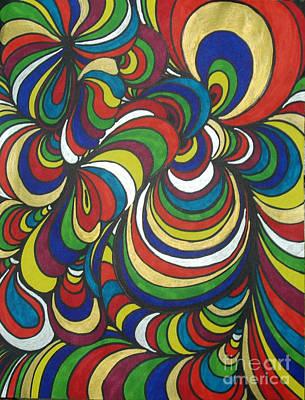 Abstraction Drawing - Colorway 2 by Ramneek Narang