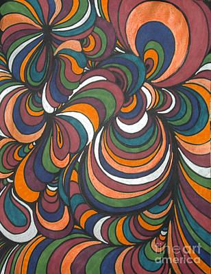 Abstraction Drawing - Colorway 4 by Ramneek Narang