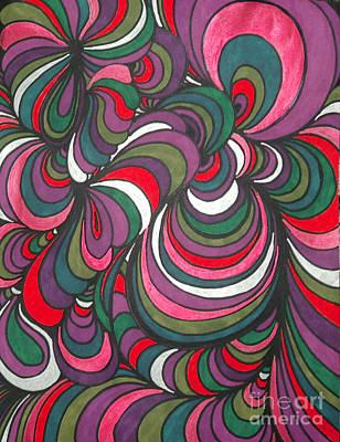 Abstraction Drawing - Colorway 5 by Ramneek Narang