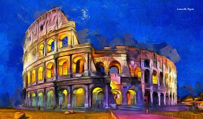 Latin Painting - Colosseum by Leonardo Digenio