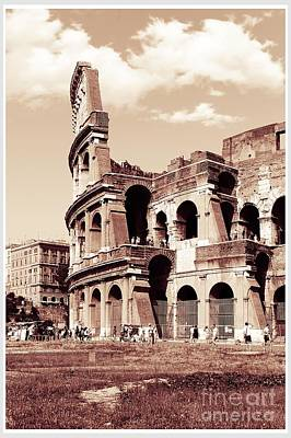 Colosseum Toned Sepia Print by Stefano Senise