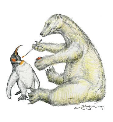Mark Johnson Drawing - Colour Bear by Mark Johnson