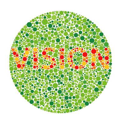 Colour Blindness Test Print by David Nicholls
