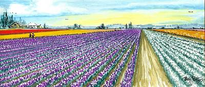 Tulip Festival Painting - Colour Of Skagit Valley by Bob Patterson