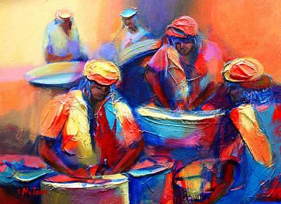Caribbean Painting - Colour Pan by Cynthia McLean