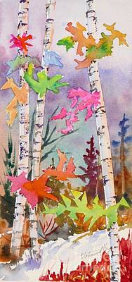Colourful Birches 2 Print by Mohamed Hirji