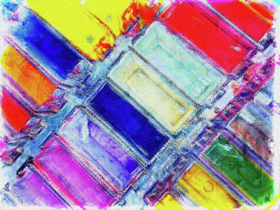 Messy Photograph - Colourful Digital Painting  by Tom Gowanlock