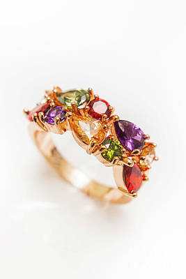 Anniversary Ring Photograph - Colourful Gem Stone Engagement Ring by Jorgo Photography - Wall Art Gallery