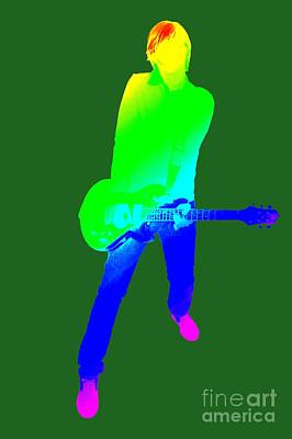 colourful guitar player. Music is my passion Print by Ilan Rosen