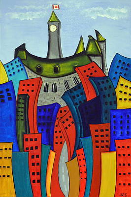 Colourful Parliament Original by Heather Lovat-Fraser