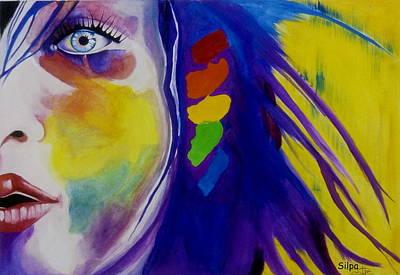 Vivid Colour Painting - Colourful  by Silpa Saseendran