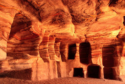 Colours Of Petra Print by Paul Cowan
