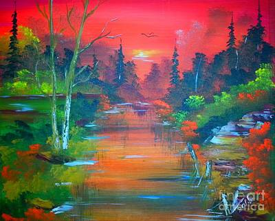 Modernart Painting - Colours Of Sunrise by Collin A Clarke
